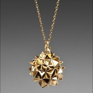 House of Harlow 1960 Gold Crater Locket Necklace